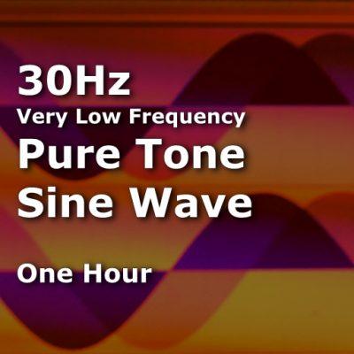 Sine Wave 30Hz 1 Hour