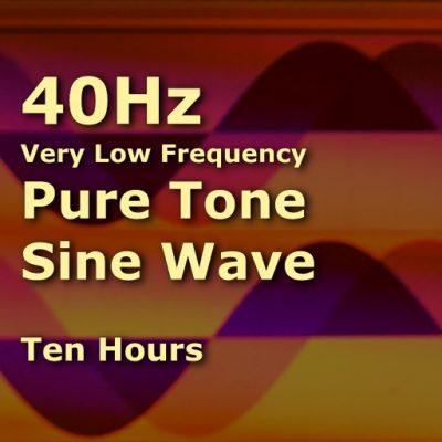Sine Wave 40Hz Ten Hours