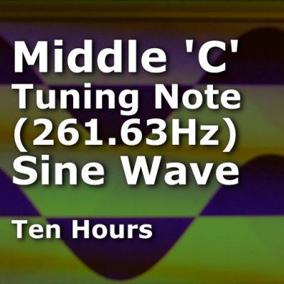 Middle C Sine Wave