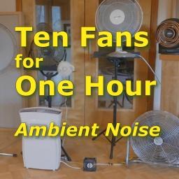 10 Fans 1 Hour Ambient Noise